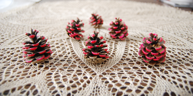 DIY - Decorate with pine cones 5 - Adele Rotella